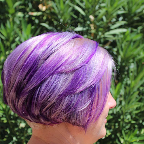 Short Purple Hair Cuts