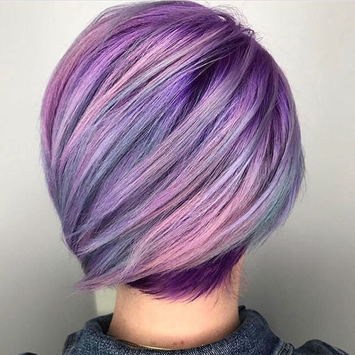 Purple Hair Short Styles