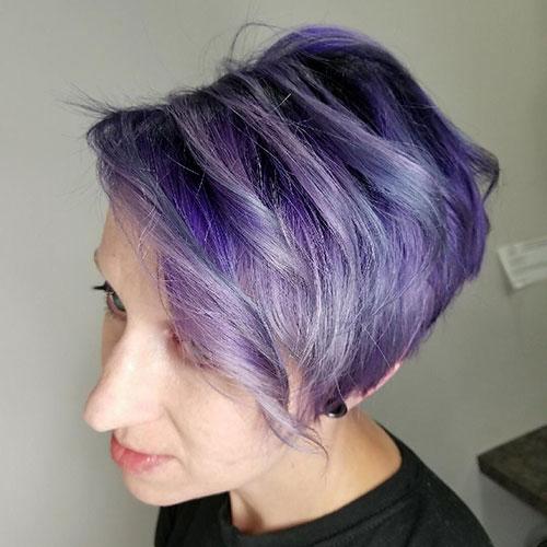 Purple Short Hair Styles