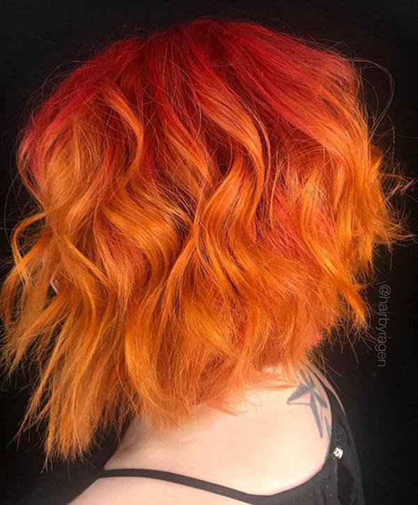 Short Orange Hair Color Ideas