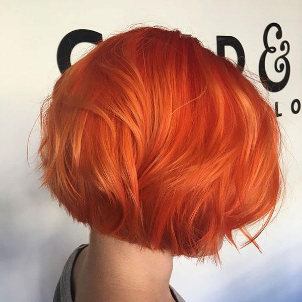 Short Haircuts On Orange Hair