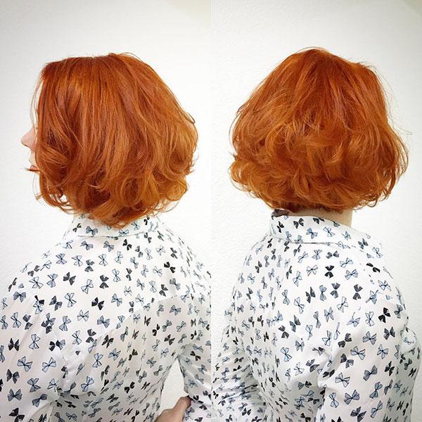 Orange Short Hairstyles