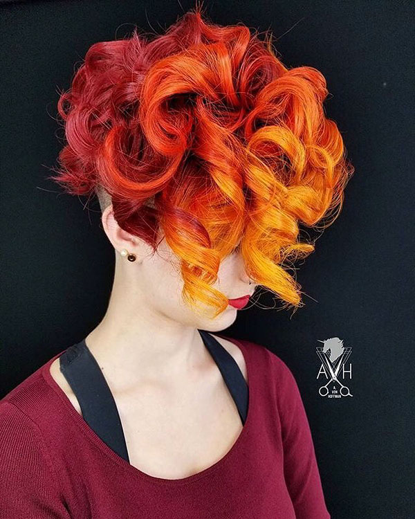 Short Orange Hair