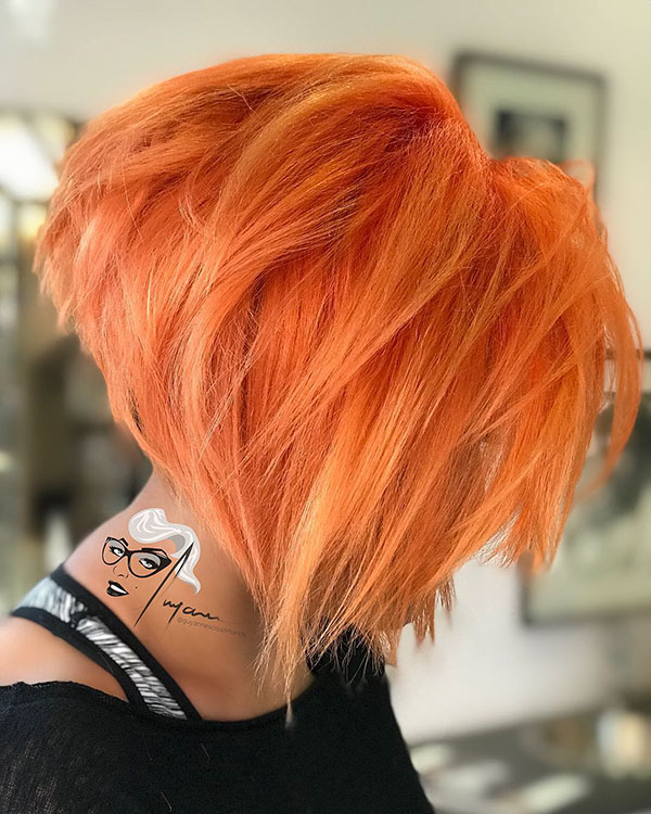 Orange Hair On Short Hair
