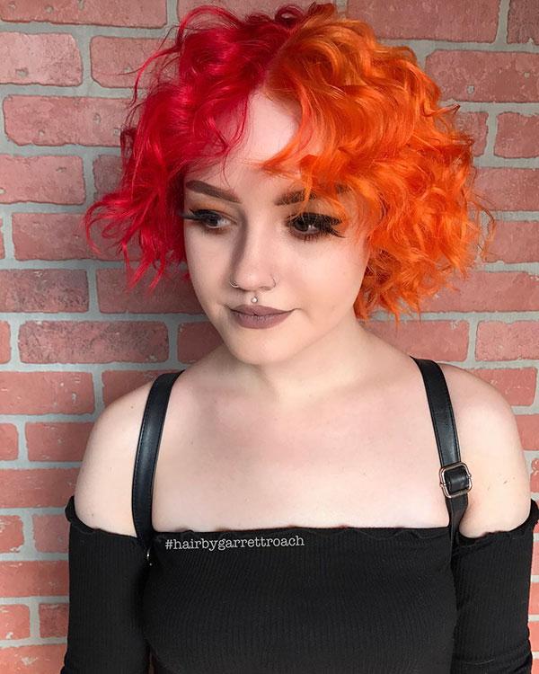 Orange Hair Color For Short Hair