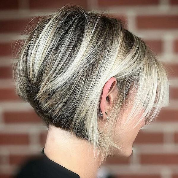 a pixie cut hairstyle