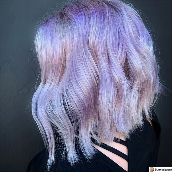 best hairstyles for purple hair