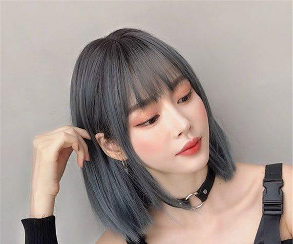 blue hair cut images