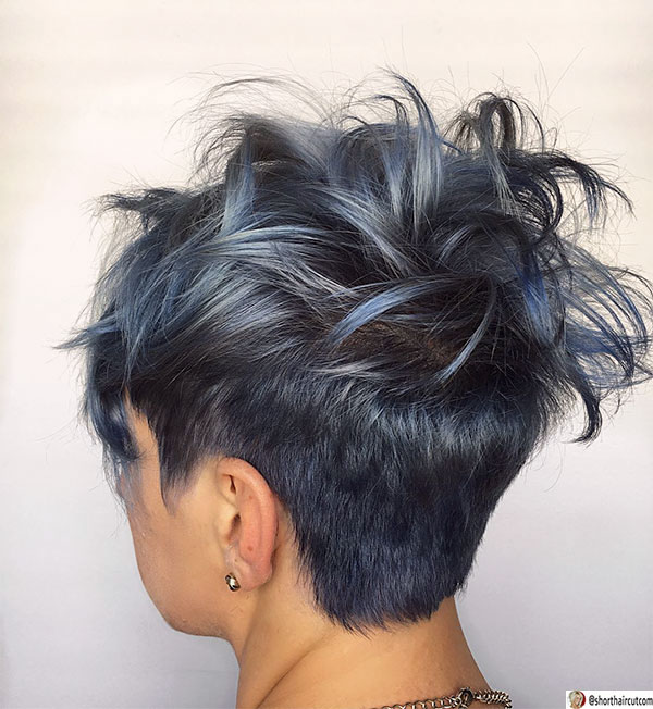 blue hairstyles for women