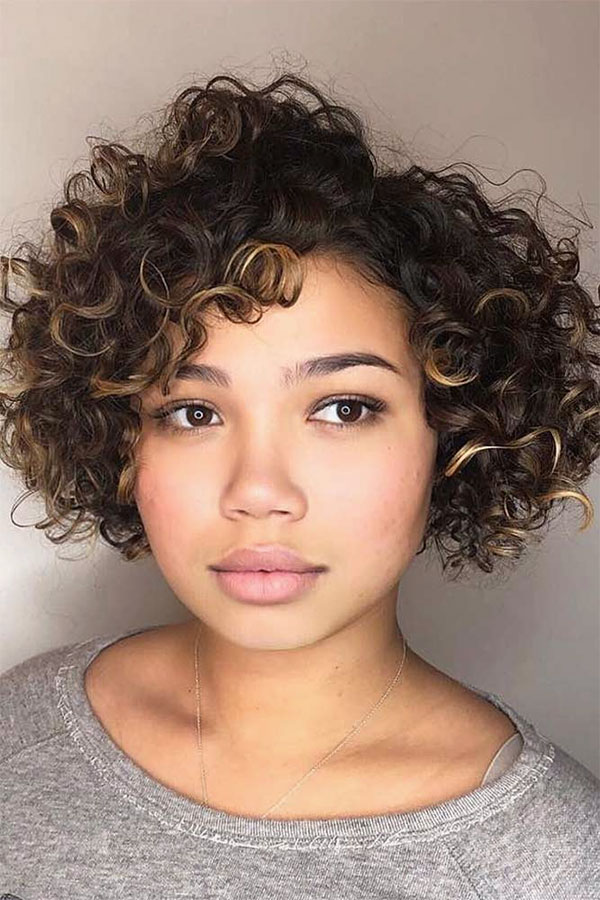 curly hair style pic
