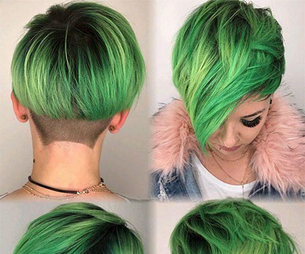 cute hairstyles green