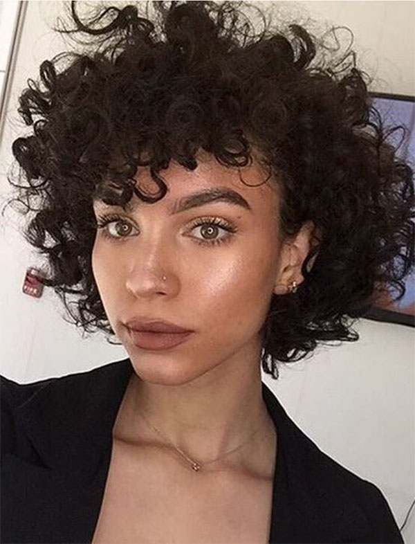 hair style with curls