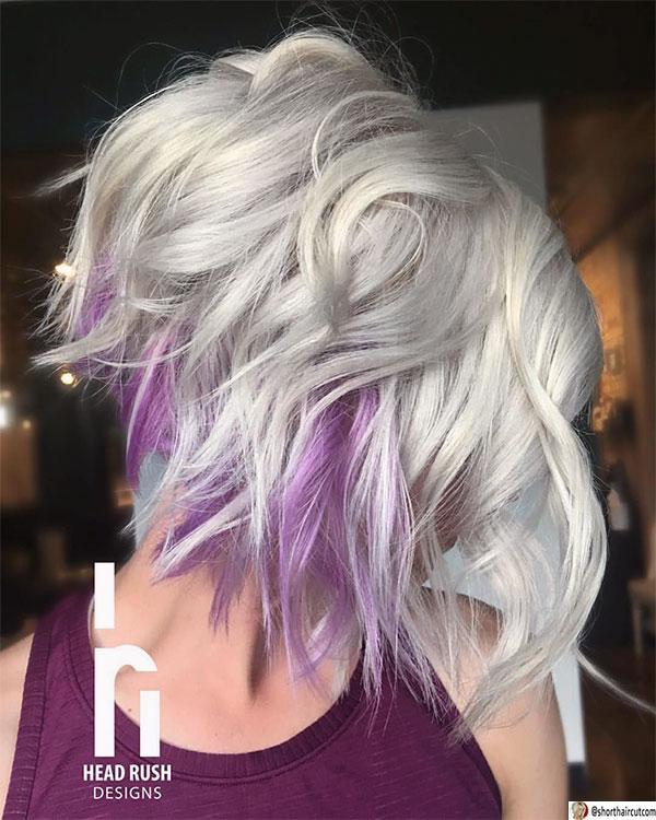 haircuts purple hair