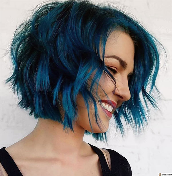 hot blue hairstyles