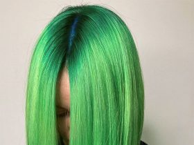 latest green hairstyles