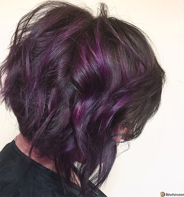 purple hair color women