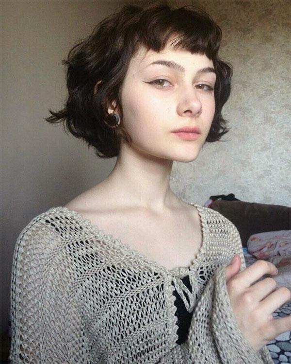 short hair styles wavy