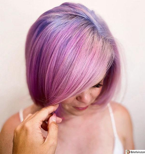 short purple cuts