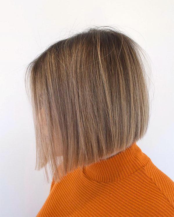 short straight hair women