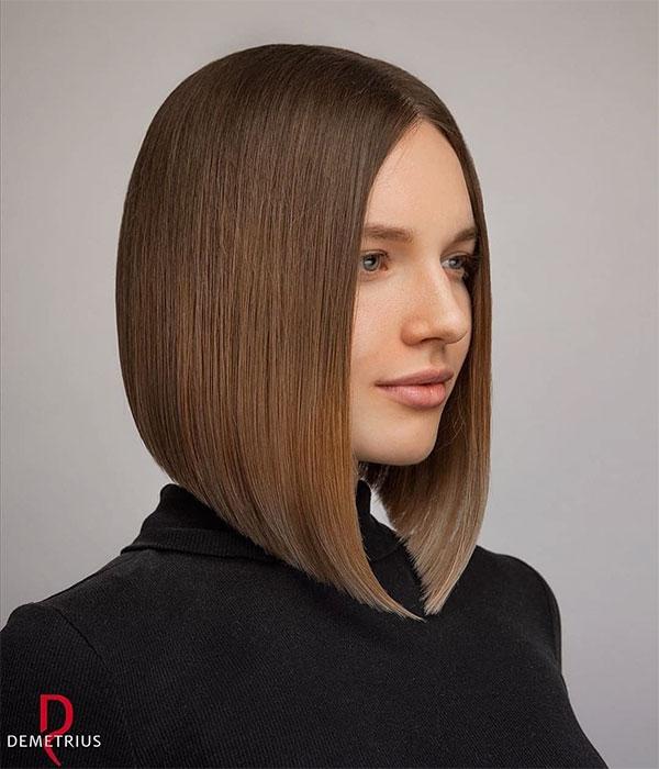straight cut haircut