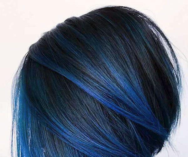 super blue hair