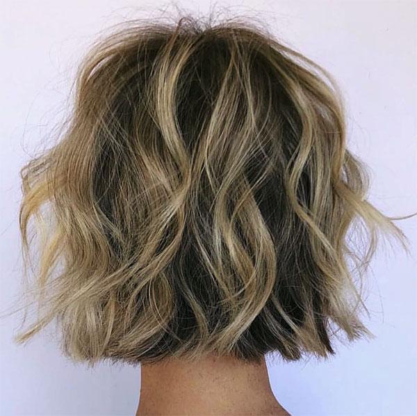 wavy hair cut styles