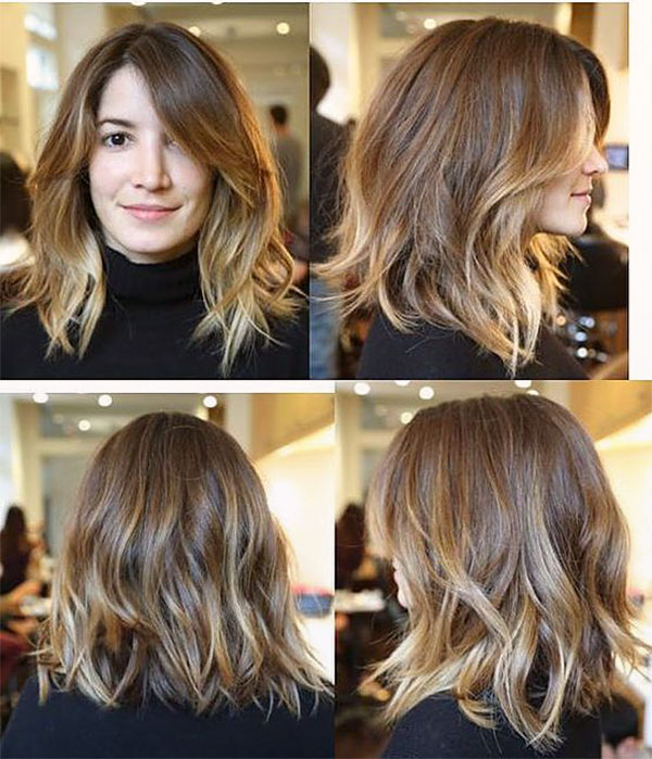 wavy hair style short