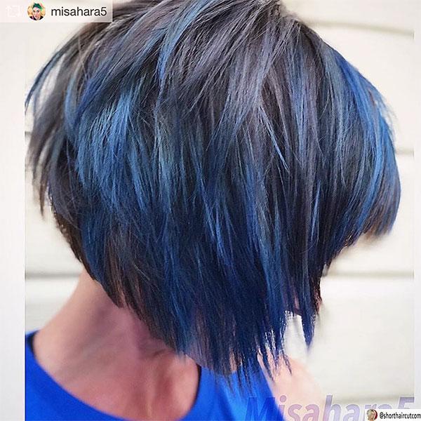 woman blue hair