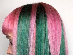 women's purple hair color